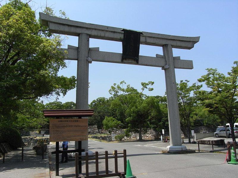 護国神社の旧鳥居